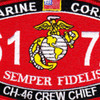 6172 CH-46 Crew Chief MOS Patch   Center Detail
