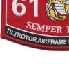 6156 Tilt Rotor Airframe Mechanic MV-22 MOS Patch   Lower Left Quadrant