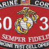 6035 Jet Engine Test Cell Operator MOS Patch | Center Detail