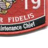 6019 Aircraft Maintenance Chief MOS Marine patch | Lower Right Quadrant