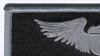 Air Force Pilot Wings Name Patch Silver And Black | Upper Left Quadrant