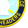4th Of The 47th Infantry Regiment Mobile Riverine Force Patch Spearheaders | Lower Right Quadrant