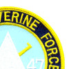 4th Of The 47th Infantry Regiment Mobile Riverine Force Patch Spearheaders | Upper Right Quadrant