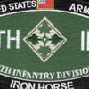 4th Infantry Division Patch - Iron Horse | Center Detail
