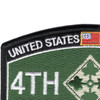 4th Infantry Division Patch - Iron Horse | Upper Left Quadrant