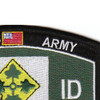 4th Infantry Division Military Occupational Specialty MOS Patch Army Veteran | Upper Right Quadrant
