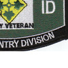 4th Infantry Division Military Occupational Specialty MOS Patch Army Veteran | Lower Right Quadrant