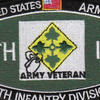 4th Infantry Division Military Occupational Specialty MOS Patch Army Veteran | Center Detail