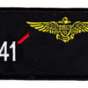 VF-41 Fighter Squadron Four One Pilot Name Tag Patch   Center Detail