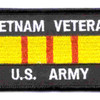 Vietnam Veteran Service Ribbon Army Patch | Center Detail