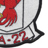 VFA-22 Patch Fighting Redcocks   Lower Right Quadrant