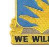 389th Infantry Regiment Patch   Lower Left Quadrant