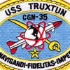 USS Truxtun CGN-35 Patch   Center Detail