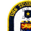 USS Ticonderoga CG-47 Patch | Upper Left Quadrant