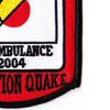 377th Aviation Medical Company Dustoff Patch 2004 Operation Quake | Lower Right Quadrant