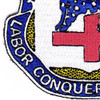 366th Infantry Regiment Patch Labor Conquers All Things | Lower Left Quadrant