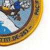 USS Pettit DE-253 USCG WWII Patch | Lower Right Quadrant