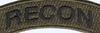 U.S. Special Forces Recon Rocker OD Patch | Center Detail