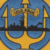 USS Paul DE-1080 Destroyer Escort Ship Patch | Center Detail