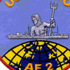 USS Nitro AE-2 Poseidon Patch   Center Detail