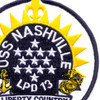 USS Nashville LPD-13 Patch | Center Detail