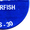 USS Garfish SS-30 H-3 Submarin Patch   Lower Right Quadrant