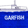 USS Garfish SS-30 H-3 Submarin Patch   Center Detail