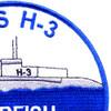 USS Garfish SS-30 H-3 Submarin Patch   Upper Right Quadrant