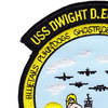 USS Dwight D. Eisenhower CVN-69 Cruise 4-91 Patch   Upper Left Quadrant