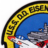 USS Dwight D Eisenhower CVN-69 2001 Patch | Upper Left Quadrant