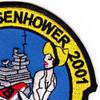 USS Dwight D Eisenhower CVN-69 2001 Patch | Upper Right Quadrant