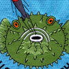 USS Burrfish SS-312 Diesel Electric Submarine Small Patch | Center Detail