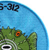 USS Burrfish SS-312 Diesel Electric Submarine Small Patch | Upper Right Quadrant