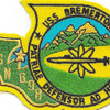 USS Bremerton SSN 698 Nuclear Attack Submarine Small Patch | Center Detail