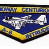 USS Midway CV-41 A-6 Intruder Centurion Patch   Center Detail