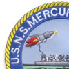 USS Mercury T-AGM-21 Missile Range Instrumentation Ship Patch | Upper Left Quadrant
