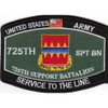 725th Support Battalion Military Occupational Specialty Rating MOS Patch