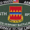 725th Support Battalion Military Occupational Specialty Rating MOS Patch | Center Detail