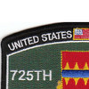 725th Support Battalion Military Occupational Specialty Rating MOS Patch | Upper Left Quadrant