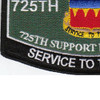 725th Support Battalion Military Occupational Specialty Rating MOS Patch | Lower Left Quadrant