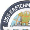 USS Kretchmer DER-329 Patch   Upper Left Quadrant