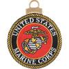 US Marine Corps Embroidered Christmas Tree Ornament Emblem