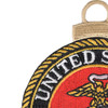 US Marine Corps Embroidered Christmas Tree Ornament Emblem | Upper Left Quadrant