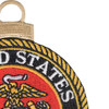 US Marine Corps Embroidered Christmas Tree Ornament Emblem | Upper Right Quadrant