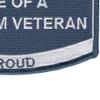 USCG Wife Of A Vietnam Veteran Patch | Lower Right Quadrant