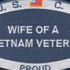 USCG Wife Of A Vietnam Veteran Patch | Center Detail