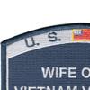 USCG Wife Of A Vietnam Veteran Patch | Upper Left Quadrant