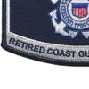 USCG Retired Veteran Patch | Lower Left Quadrant