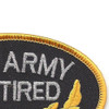 U.S. Army Retired Patch | Upper Right Quadrant