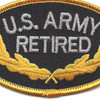 U.S. Army Retired Patch | Center Detail